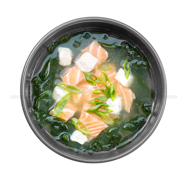 Miso soup with salmon (250ml)